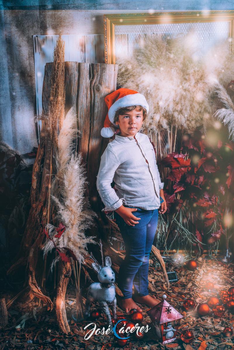 sesión fotográfica navideña
